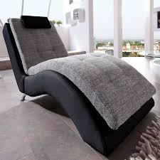 couch schwarz grau relaxliege halma in grau u0026 schwarz wohnen de