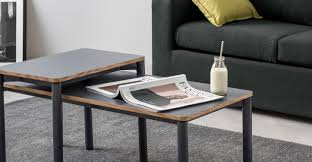 made essentials mino nesting coffee table black made com