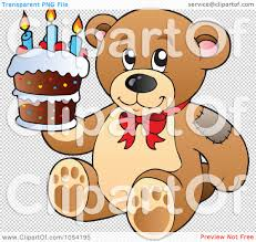 royalty free vector clip art illustration of a birthday teddy bear