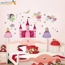 Castle Kids Room by U0026 3d Cartoon Princess Castle Heart Horse Angel Wall Stickers For