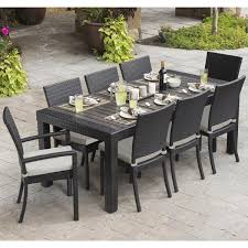 Outdoor Patio Table And Chairs Oliver Paul 9 Patio Dining Set Free Shipping Today