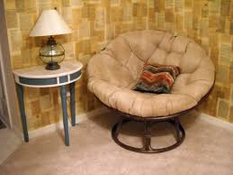 Small Round Accent Table by Furniture Simple Papasan Chair With Brown Tufted Seat And Brown