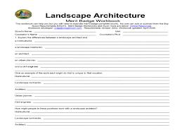 boy scout merit badge landscape architecture 8th grade worksheet