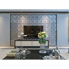 grey glass interlocking mosaic tile silver 304 stainless steel