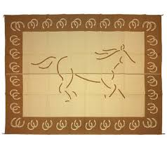 Qvc Outdoor Rugs Weather Resistant 9 U0027 X 12 U0027 Horse Outdoor Reversible Patio Mat