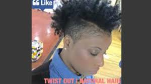 natural hair shaved side twist out on natural short hair shaved sides edition youtube