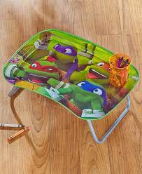 kids metal dinner tray or art lap table tmnt great for travel fold legs licensed