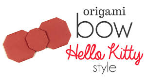 hello bow origami hello bow tutorial diy
