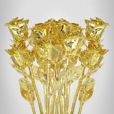 gold dipped 11 gold dipped roses 12 bouquet is a