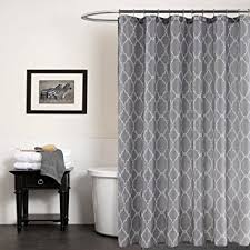 Shower Curtains Extra Long Amazon Com Kindobest Gray Geometry Pattern Shower Curtains For