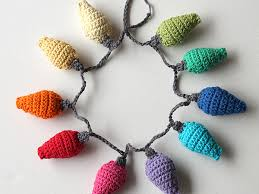 how to crochet christmas light decorations