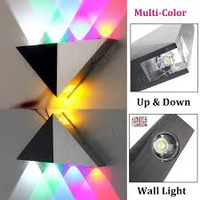 multi color triangle 5w led wall sconce l up indoor