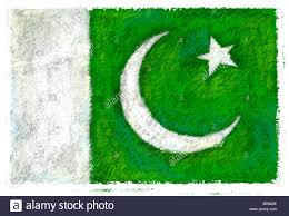Pakistans Flag Drawing Of The Flag Of Pakistan Stock Photo Royalty Free Image