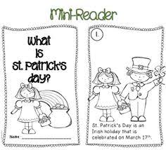 st patrick u0027s day emergent reader for preschool kindergarten
