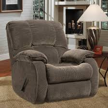 furniture cool brown leather swivel wall hugger recliners for