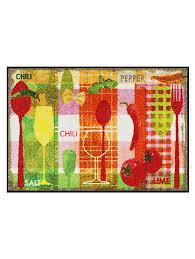 tapis cuisine antiderapant lavable tapis de cuisine antidérapant à imprimés colorés helline