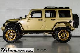 gold jeep wrangler lifted 2015 jeep wrangler sema