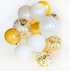 30th birthday balloon bouquets gold white confetti balloon bouquet wedding birthday party