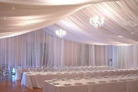 ceiling draping for weddings ceiling draping sheer voile chiffon drape panel backdrop wall