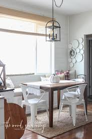 Banquette Dining Furniture White Cottage Banquette Small Wooden Dining Table And 3 Chairs