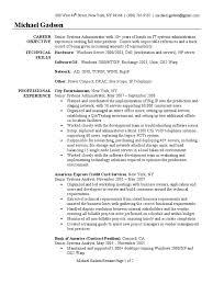 system administrator resume sample windows 2000 system