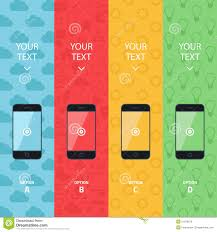 Promotion Color Flat Vector Collection Of Modern Mobile Phones Smartphone
