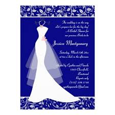 royal blue wedding invitations wedding gown on royal blue bridal shower invite x invitation