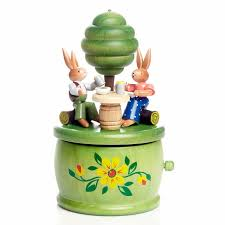 easter bunny gifts handcrafted german gifts easter bunny at table tree