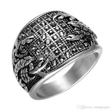 black crystal rings images Punk vintage black crystal scorpion pattern mens ring gold color jpg