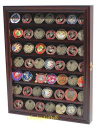 shadow box with shelves and glass door amazon com 56 military challenge coin display case cabinet rack