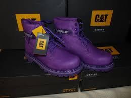 boots sale uk ebay womens caterpillar colorado 6 boots in purple uk size 4 low ebay