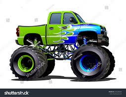 bigfoot 10 monster truck vector cartoon monster truck eps10 separated stock vector