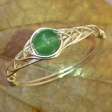 green gemstones rings images Rings for girls 925 silver natural gemstones ring with a green jpg