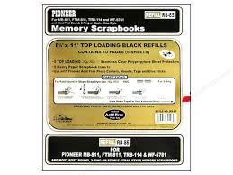 Scrapbook Inserts Pioneer Refill Page Scrapbook 8 5x11 Black Createforless