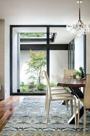 Chandeliers Austin Austin Japanese Courtyard Dining Room Contemporary With Floor To