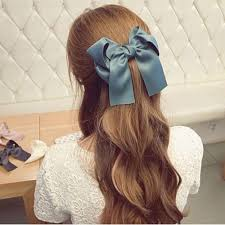 hair bow tie 2017 wholesale princess hair bow tie clip satin hair bow ribbon