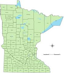 Mn State Park Map by Counties Of Minnesota Map U2022 Mapsof Net