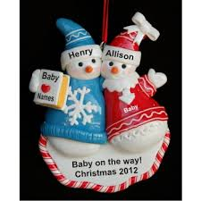 snow personalized family ornament