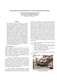 development of a robotic driver for vehicle dynamometer testing