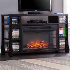 tv stand electric fireplace insert 60 u2033 media storage living room