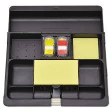 recycled plastic desk drawer organizer tray plastic black
