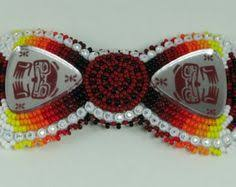 native american beaded barrettes by camerongoods on etsy