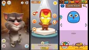 talking android talking tom vs bb talking vs my boo android ios gameplay