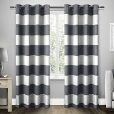 How To Keep Shower Curtain From Attacking You Ati Home Santa Monica Striped Curtain Panel Pair With Grommet Top