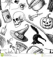 vector seamless halloween pattern stock vector image 59170034