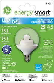 Led Light Bulbs Ge by Ge Lighting 85772 Energy Smart Led 4 5 Watt 280 Lumen G25