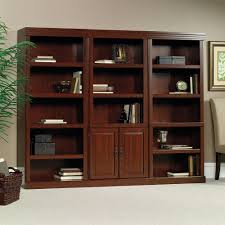 Wall Bookcases With Doors Heritage Hill Library With Doors 102792 Sauder