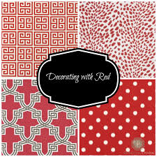 decorating with red fabrics domestic charm