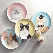 party cats salad plate set of 4 pier 1 imports