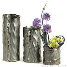 Gun Vase 10 Inch Tall Hammered Ceramic Cylinder Vase Vase Market
